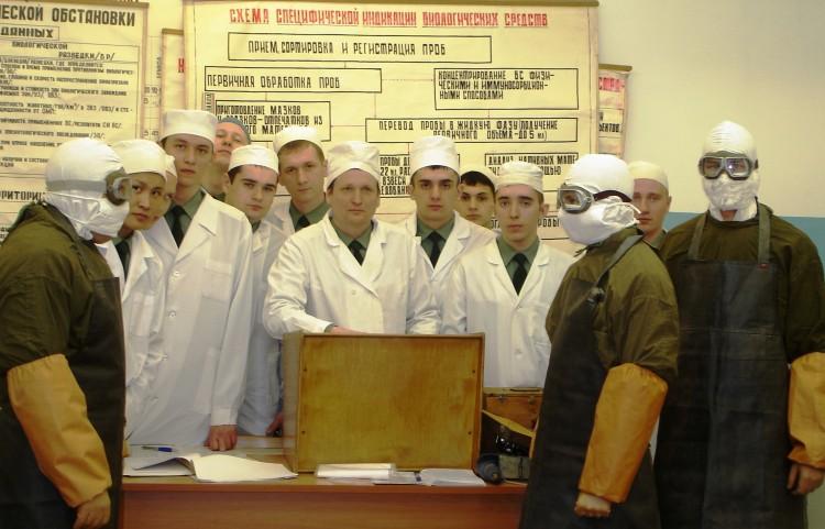 занятия в лаборатории военной эпизоотологии ВВИ 2007