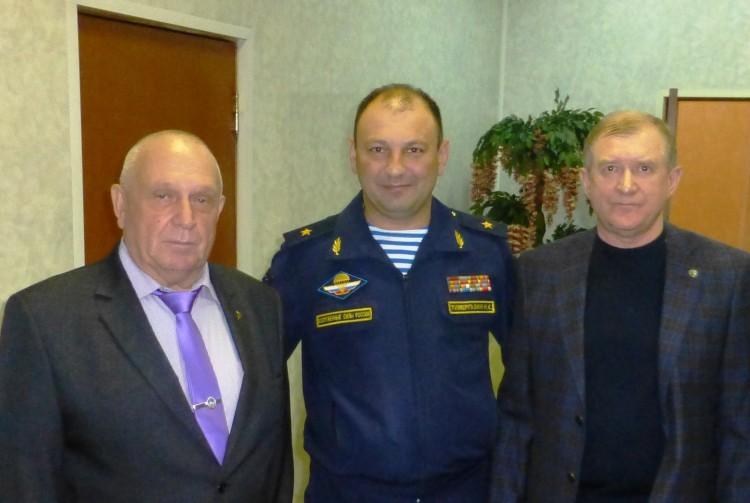 С генералом Темиргазиным Н.К