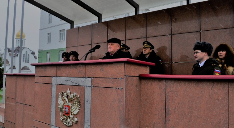 выступление генерал-майора В.П. Ветрова перед личным составом полка