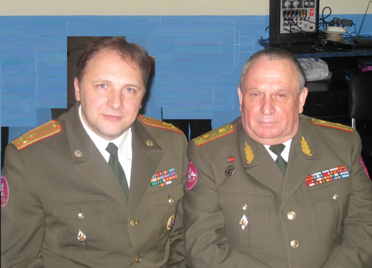 полковник Ю.Г. Боев, генерал-майор В.П. Ветров