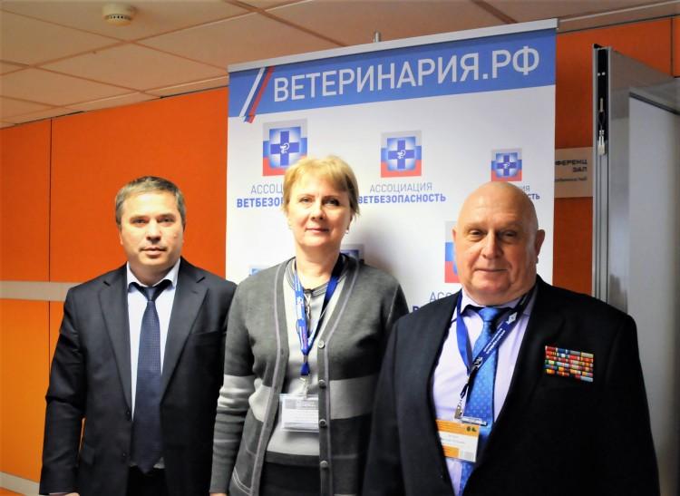 с коллегами по службе. Петр Квочко, Наталья Загороднова, Виталий Ветров.