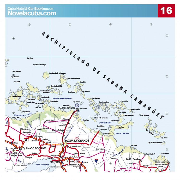 Карты дорог Кубы