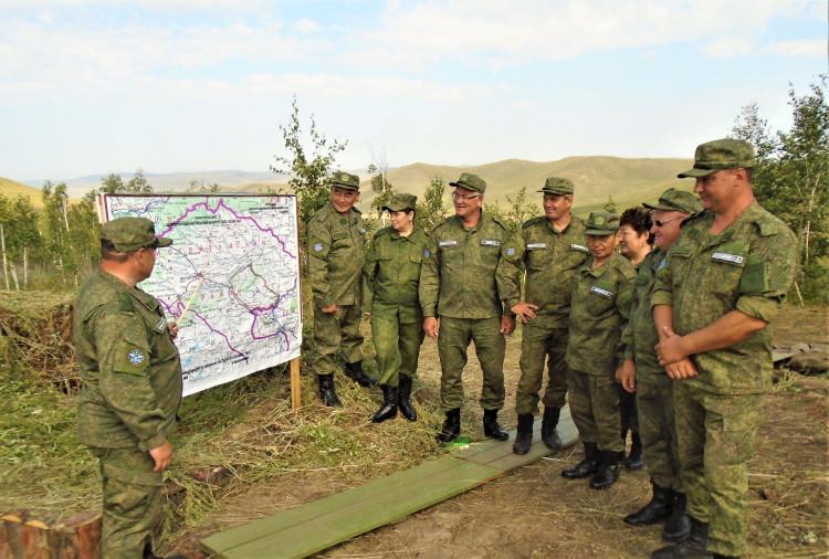 Военные ветеринары-участники специальных учений