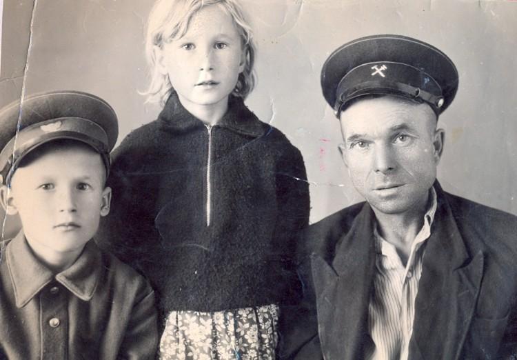 Иван Щербаков и дети