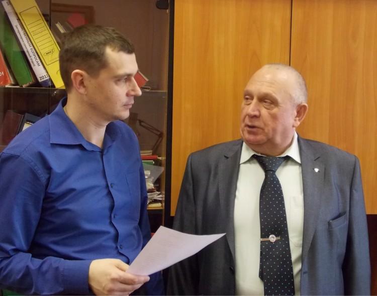 Виталий Ветров с коллегой Андреем Шереметом