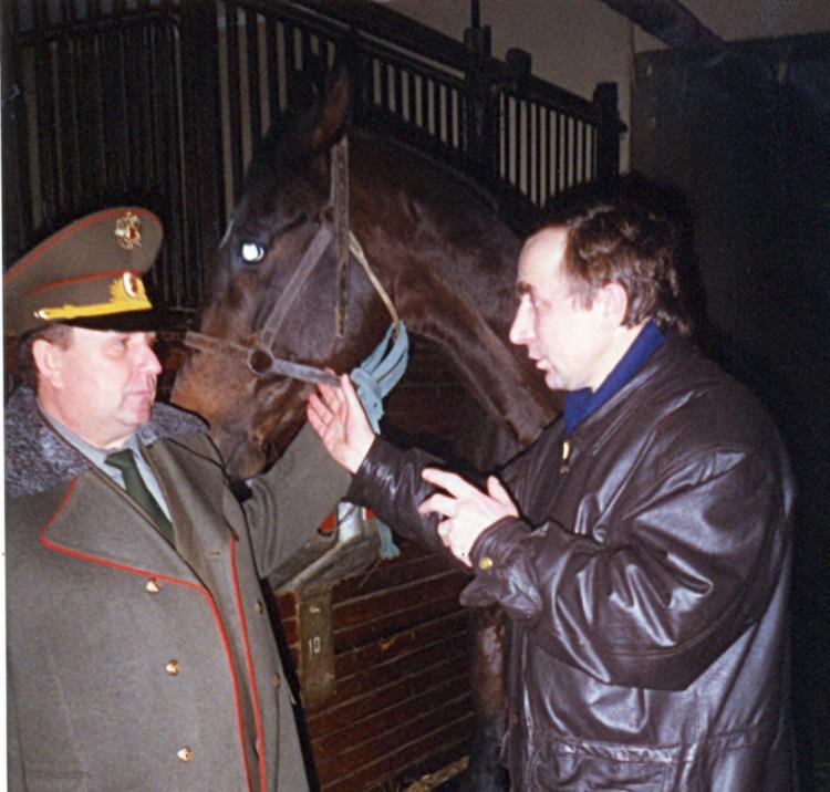 генерал В.П.Ветров в ОКД ЦСКА с коллегой