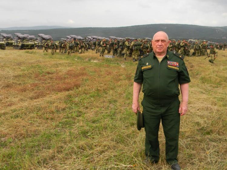 генерал-майор В.П. Ветров на полевом выходе