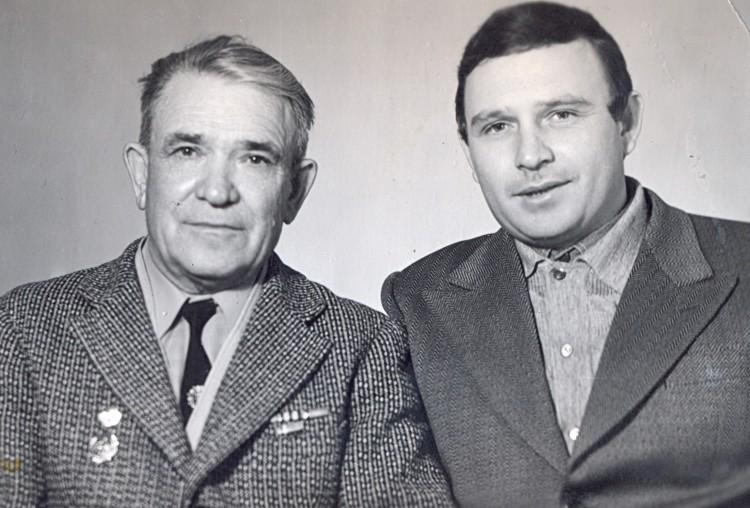 капитан в отставке П.Т. Ветров и капитан В.П.Ветров