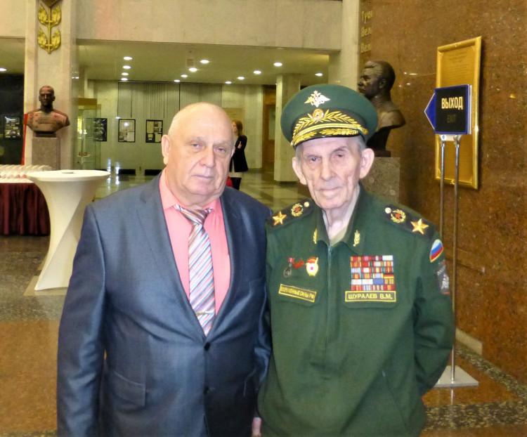 генерал-майор ветеринарной службы Виталий Ветров и генерал армии В.М.Шуралев