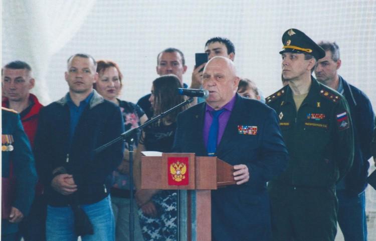 Выступление генерала В.П.Ветрова в 100 ОПО