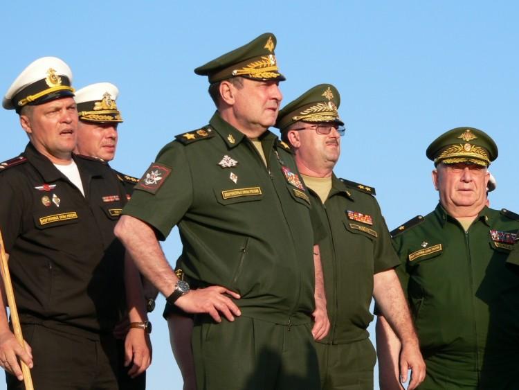 на инспекции в войсках и силах флота