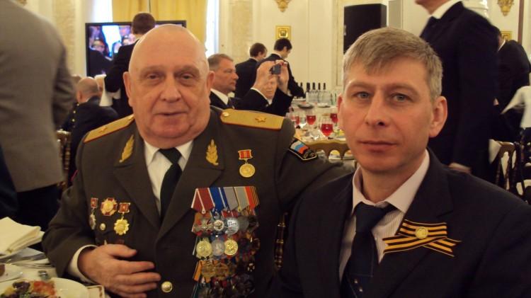 Виталий Ветров на приеме в Кремле 9 мая 2017г
