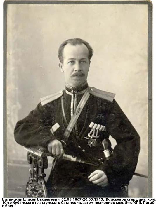 Бывш. Ком. 10-го Кубан. пласт. батальона