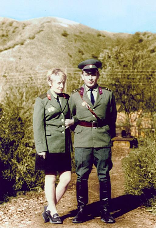 Ветровы; Галина и Виталий, 123 мсд, 5 ОА,КДВО,п.Барабаш 1973г.