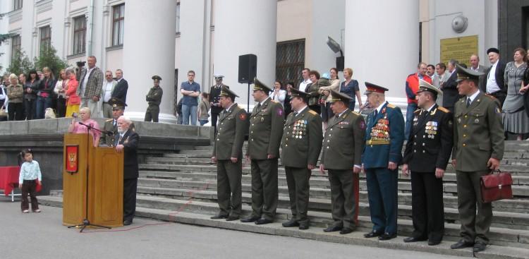 Выступление академика Н.Ф.Шуклина на выпуске офицеров ВВИ