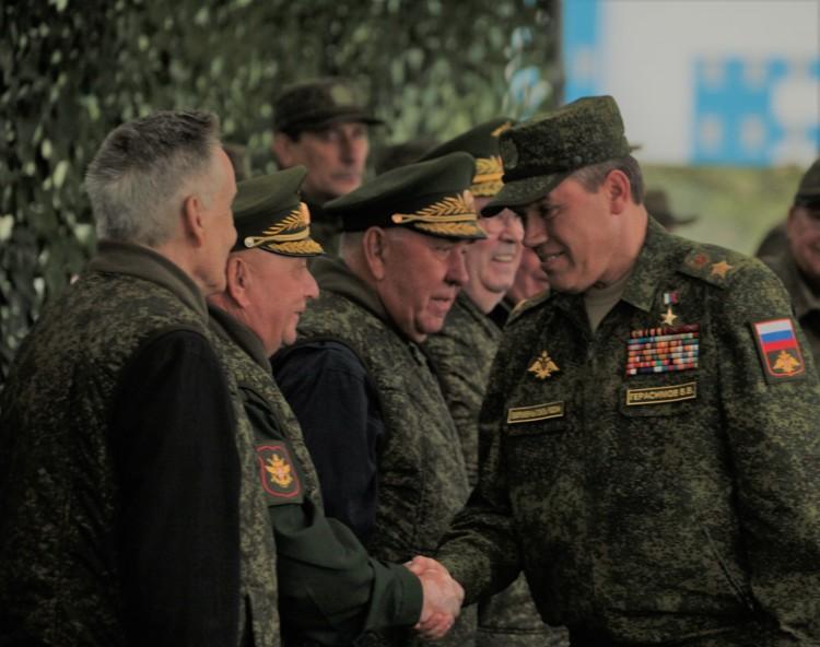 ветераны Тыла ВС присутствуют на специальных учениях