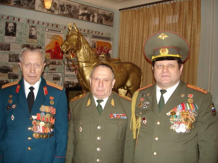 ветераны ВС, А.А.Немиров, генерал-майор В.П.Ветров, полковник И.С. Колесниченко