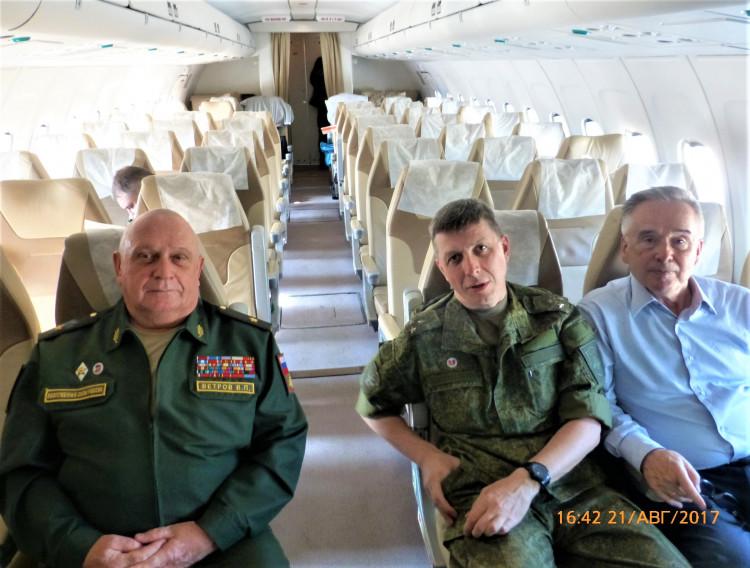 в полете, генерал-майор ветеринарной службы запаса Виталий Ветров