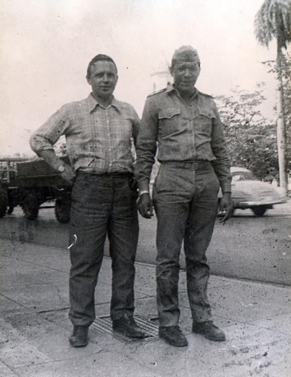 Виталий Ветров с братом по оружию, в Сьен - Фуэгосе