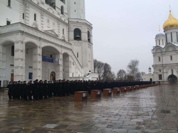 принятие военной присяги в ОПП в Кремле