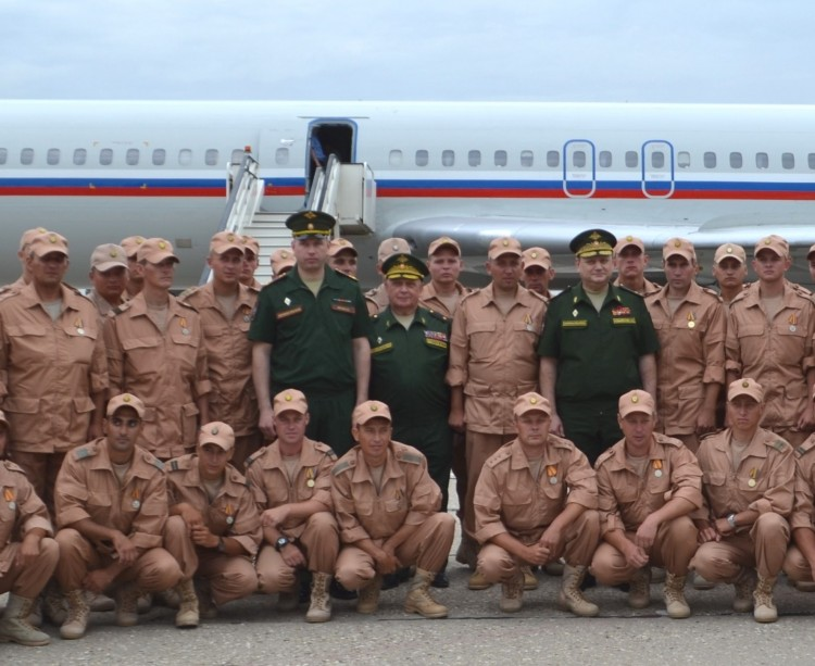 Встреча военнослузащих, выполнивших свой воинский долг