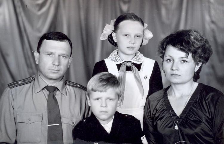 Семья Ветровых, Сахалин, 1978г.