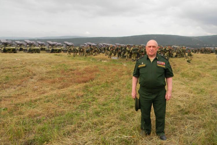 на полевом выходе подразделения войск округа