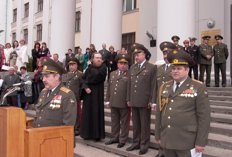 На выпуске офицеров ВВИ