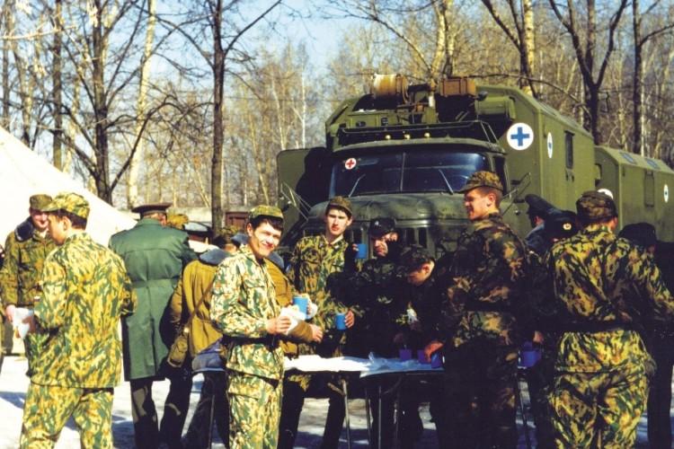 тактико-специальные учения военных ветеринаров в МВО