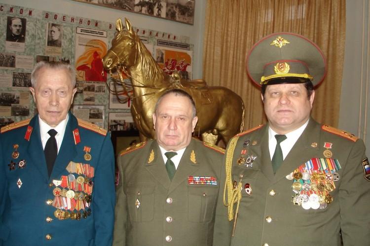 в Музее ВВИ, А.А.Немиров, В.П.Ветров, .С.Колесниченко