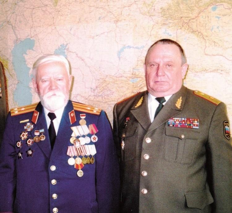 полковник Шуклин Николай Федорович, генерал-майор В.П.Ветров