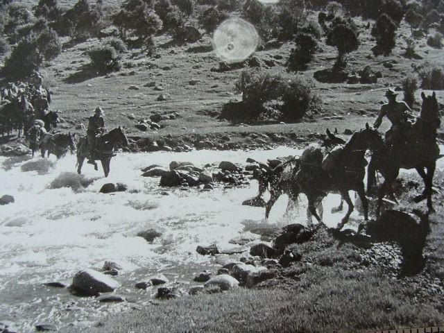 отдельная вьючно-транспортная рота СаВО. переход через реку