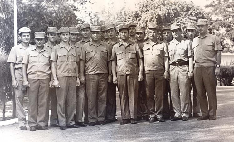 Офицеры служб Тыла 7 омсбр в Республике Куба