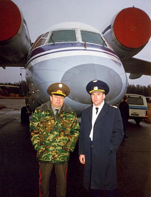 с командиром Ан -72, Глиц, Ахтуба