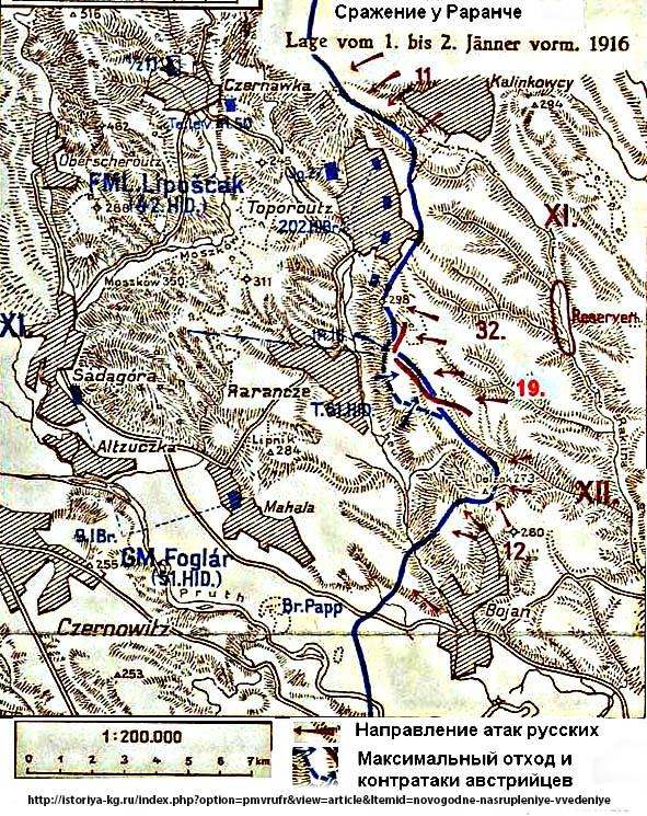 Наступление на Раранче Буковина дек. 1915-янв. 1916