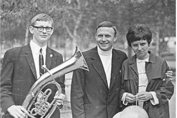 Леонид Ященко, Виталий Ветров, Галина Тарасова, Алма-Ата, 1971г.