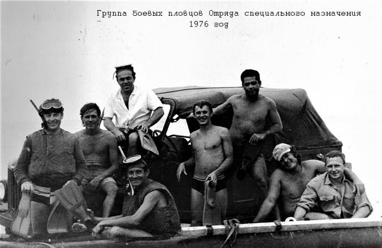 боевые пловцы, Виталий Ветров справа