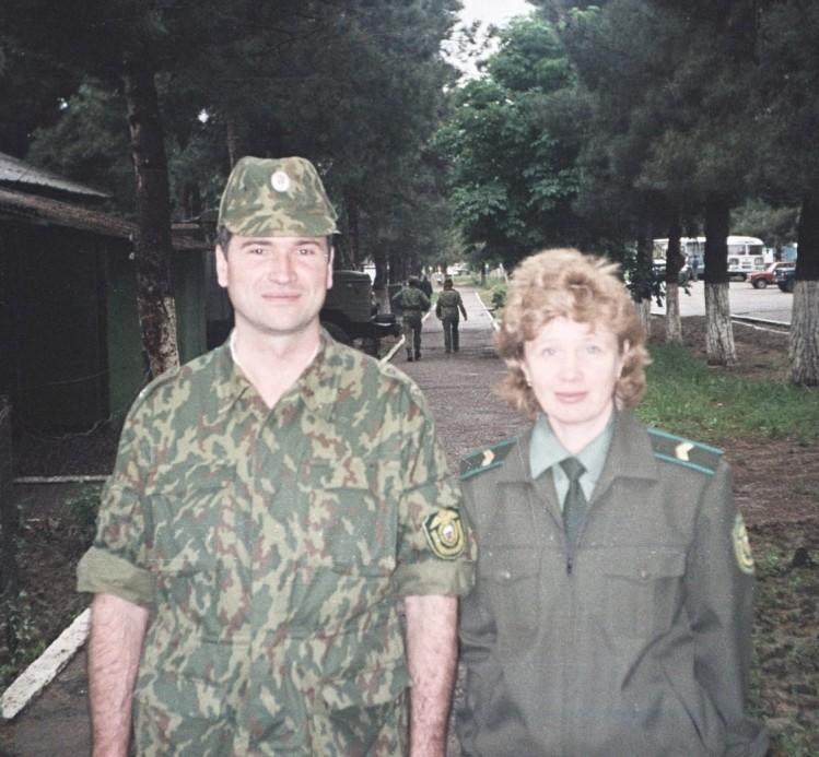 подполковник Виталий Злоказов в Таджикистане