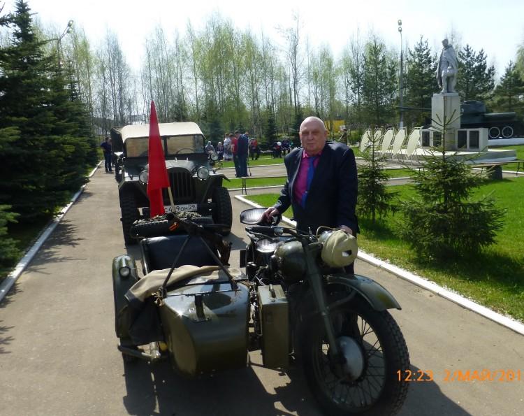 Виталий Ветров на день Победы в Крекшино